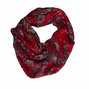S.Oliver Red Scarf With Paisley Print